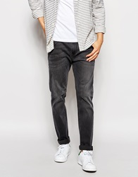 Asos Stretch Slim Jeans In Mid Grey Midgrey