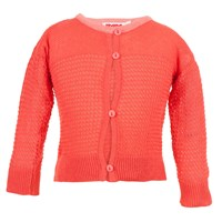 Bryony And Co Vintage Knit Hot Coral Cardigan Red