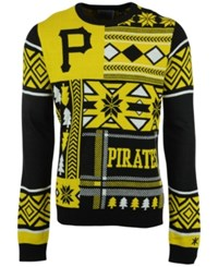 Forever Collectibles Men's Pittsburgh Pirates Patches Christmas Sweater Black Gold
