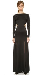 Temperley London Madena Split Dress Black