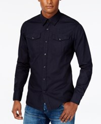G Star Gstar Men's Raw Long Sleeve Shirt Mazarine Blue