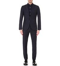 Reiss Marvel Slim Fit Wool Blazer Navy