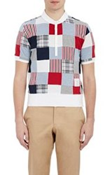 Thom Browne Patchwork Polo Shirt Red