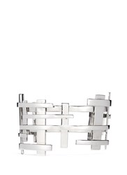 Dauphin 18K White Gold Openwork Lattice Cuff Metallic