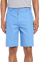 Vineyard Vines Men's Big And Tall 'Summer' Flat Front Twill Shorts Breaker Blue