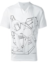 Z Zegna Graphic Print T Shirt White