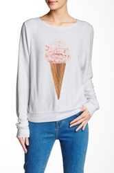 Wildfox Couture Breakfast Baggy Beach Jumper White