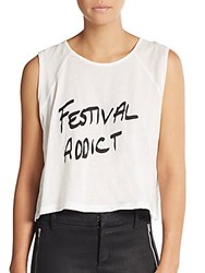 Minkpink Festival Addict Crop Top White
