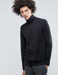 Weekday Turtle Long Sleeve Top Roll Neck 09 090 Black