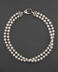 Lagos Sterling Silver Luna Freshwater Pearl Double Strand Necklace 18 No Color