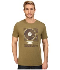 Life Is Good Vibes Record Player Cool Tee Woodland Green Men's T Shirt