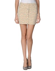 M.Grifoni Denim Skirts Mini Skirts Women Beige