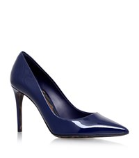 Dolce And Gabbana Decollete Patent Leopard Pumps Female Navy