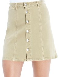 Jessica Simpson Aline Mini Skirt Khaki