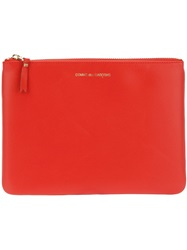 Comme Des Garcons Wallet Large Zip Pouch Yellow And Orange