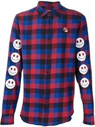 Sold Out Frvr 'Junkie' Flannel Shirt Red