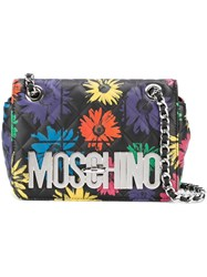 Moschino Floral Quilted Crossbody Bag Multicolour