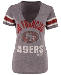 G3 Sports Women's San Francisco 49Ers Any Sunday Rhinestone T Shirt Gray