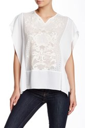 Yoana Baraschi White Night Embroidered Poncho Blouse