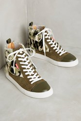 Anthropologie Chaka Faux Fur Camo Sneakers Holly