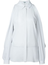 Kenzo Open Shoulder Shirt White