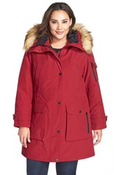 Plus Size Women's 1 Madison 'Expedition' Faux Fur Trim Parka