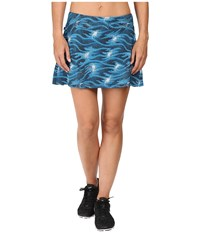 Skirt Sports Gym Girl Ultra Stargaze Print Women's Skort Blue