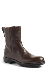Aquatalia By Marvin K Men's 'Logan' Zip Boot Dark Brown Leather