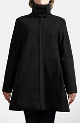 Modern Eternity A Line Convertible Maternity Swing Coat Black