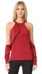 Dion Lee Sleeve Release Knit Sweater Wine