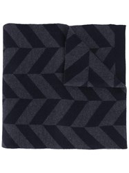 Theory 'Herrigs' Chevron Scarf Blue