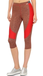 Vpl Spongy Flexure Capri Leggings Fiery Red