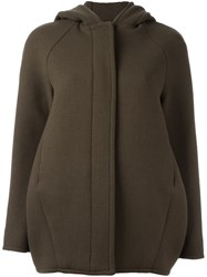 Gianluca Capannolo Hooded Long Length Jacket Green