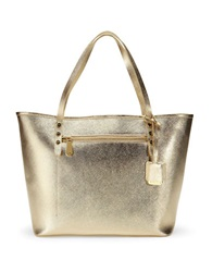 Kenneth Cole Dover Street Leather Tote Bag Gold