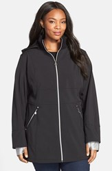 Plus Size Women's Betsey Johnson Soft Shell Jacket With Detachable Hood Online Only