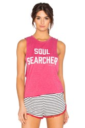 Spiritual Gangster Soul Searcher Burnout Coachella Tank Pink