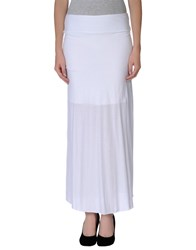 Almeria Skirts 3 4 Length Skirts Women White