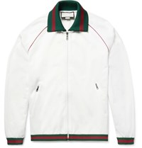 Gucci Tech Jersey Zip Up Track Jacket White