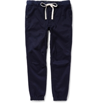 Beams Plus Tapered Cotton Blend Trousers Blue
