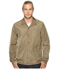 Obey Baker Graphic Jacket Dusty Army Men's Coat Olive