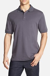 Men's Nordstrom Trim Fit Interlock Knit Polo Grey Stonehenge