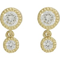 Tate Women's Diamond Double Drop Earrings Yellow No Color Yellow No Color