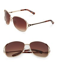 Sam Edelman 57Mm Aviator Sunglasses Brown