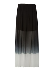 Label Lab Dip Dye Maxi Skirt Black White