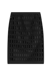Moschino Cotton Pencil Skirt With Cut Out Detail Black
