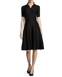 Ralph Lauren Black Label Short Sleeve Polo A Line Dress Black