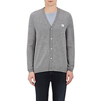Acne Studios Men's Dasher C Face Wool Cardigan Grey