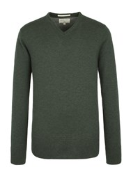 Racing Green Fletcher V Neck Knit Dark Green
