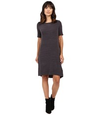Allen Allen Short Sleeve Dress Deep Grey Women's Dress Black