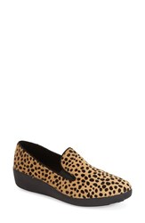 Women's Fitflop 'F Pop' Genuine Calf Hair Loafer Leopard Calf Hair